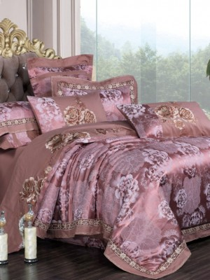 JC-129 Комплект постельного белья Сатин-жаккард (Семейный размер)