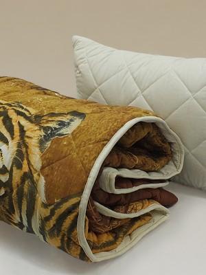 """Комплект ( 1 подушка, одеяло-покрывало) """"Уссурийские тигры"""""""""""