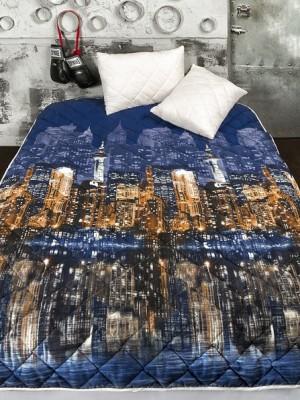 """Комплект ( 1 подушка, одеяло-покрывало) """"Вечерний город"""""""