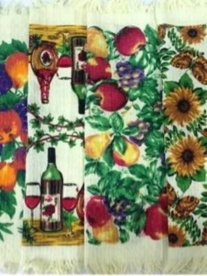 кухня Л Фрукты Бахрома 40х60 (12 шт ) арт. KX084 полотенце LIKE TEXTILE