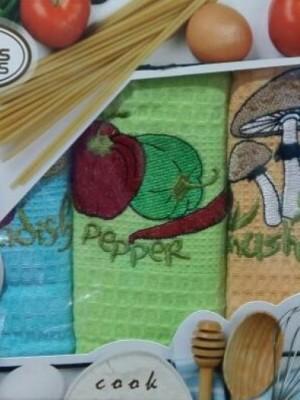Овощи В ( 50х70 3шт) арт.005 в коробке набор кухонный Атлас