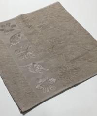 Бежевый Cotton ( Бабочка ) 70х130 хлопок М полотенце (1шт) Фиеста