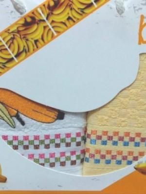 Банан Фрукты М ( 40х60 ) х 2шт арт.029 в коробке набор кухонный Атлас Текстиль