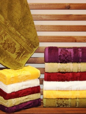 8458 Gold Бамбук 50х90 ( 6шт ) 480гр. полотенце TWO DOLPHINS