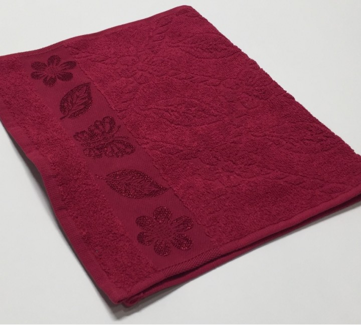 Вишня Cotton ( Бабочка ) 70х130 хлопок М полотенце (1шт) Фиеста
