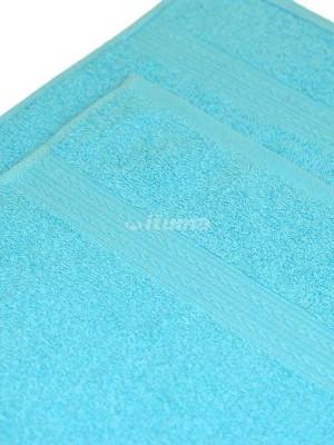 Светло-голубое 100х180 Полотенца махровое 1 шт ITUMA