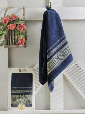 8522 Синий Клеопатра (70х140 ) 1 шт полотенце в коробке METEOR