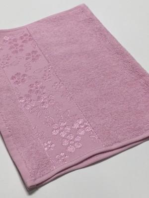 Розовый ELARA 50х90 хлопок М полотенце (1шт) Фиеста