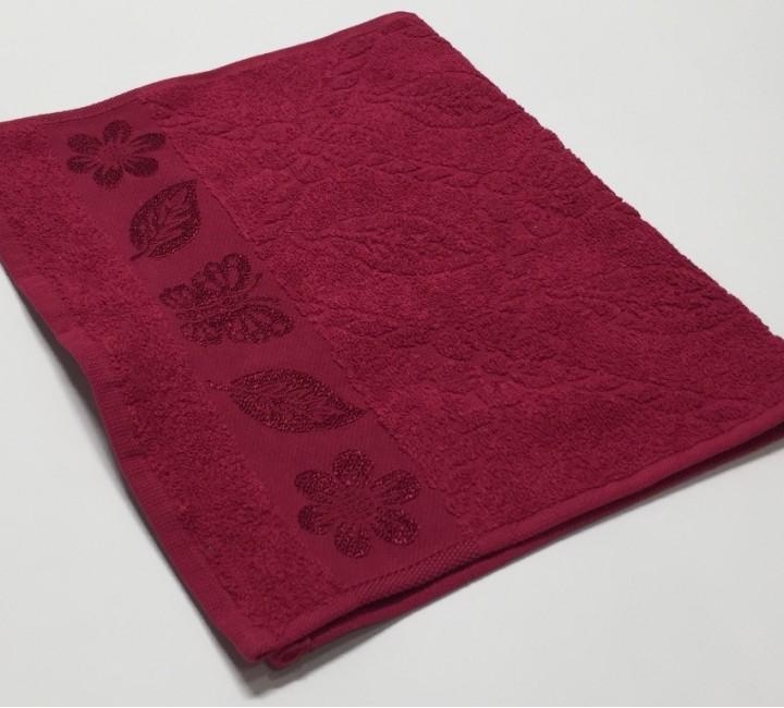 Вишня Cotton ( Бабочка ) 50х90 хлопок М полотенце (1шт) Фиеста