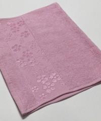 Розовый ELARA 70х130 хлопок М полотенце (1шт) Фиеста