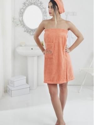 2607 Оранжевый PERA Сауна жен. махра в подарочной упаковке Карна