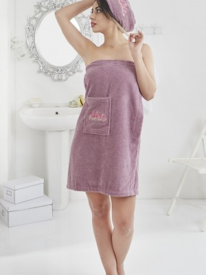 2607 Фиолетовый PERA Сауна жен. махра в подарочной упаковке Карна