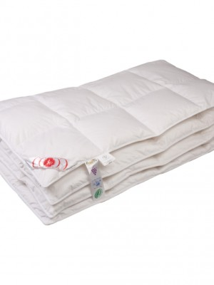 """Купить одеяло кассетное теплое """"Виктория"""" 200х200 см наполнитель: элитный белый гусиный пух категории премиум"""