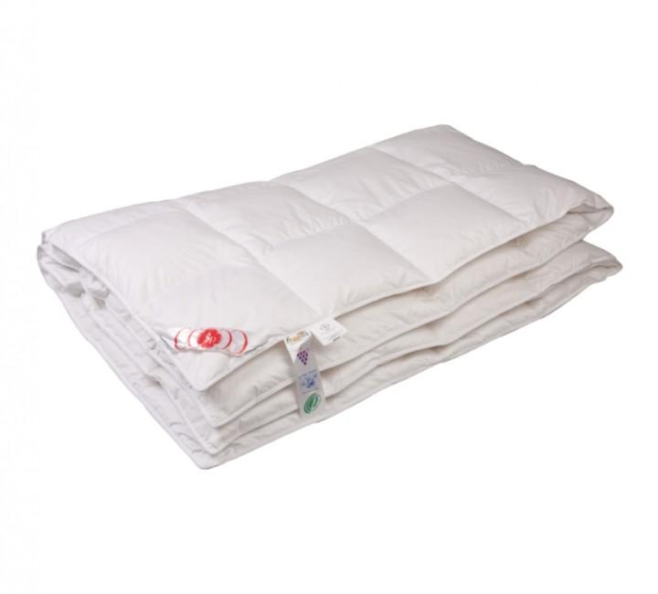 """Купить одеяло кассетное теплое """"Виктория"""" 72х205 см наполнитель: элитный белый гусиный пух категории премиум ткань: батист (слоновая кость) гладкокрашенный, импортный (100% хлопок). Кант - белый"""