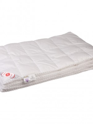 """Купить одеяло кассетное облегченное """"Виктория"""" 150х200 см наполнитель: элитный белый гусиный пух категории"""