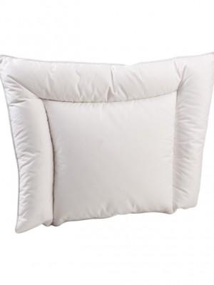 Анатомическая пуховая подушка для новорожденного «Белый гусенок» 38х50 см нполнитель: элитный белый гусиный пух категории