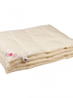 """Купить одеяло кассетное всесезонное """"Приданое"""" 140х205 см наполнитель: серый гусиный пух первой категории"""