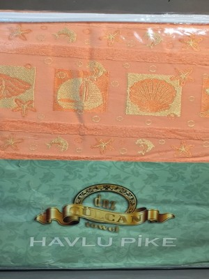 Ракушки Персик 160х220 ( 1шт ) Простыня Велюр-Махра 450гр Атлас