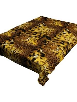 ZA MF a411 Леопард на шкуре 180х230 микрофибра плед Absolute