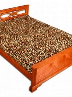 ZA MF 15 Шкура леопарда рыжая 180х230 микрофибра плед Absolute
