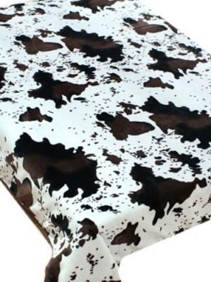 ZA MF a106 Шкура коровы черно-белая150х200 микрофибра плед Absolute