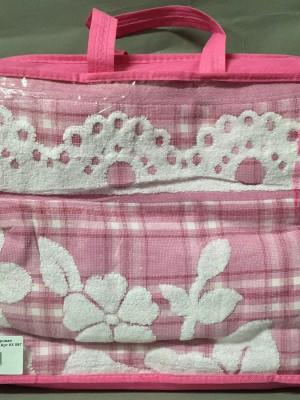 Розовая KX096 180х200 Жаккард Простыня МАхровая Лайк Текстиль