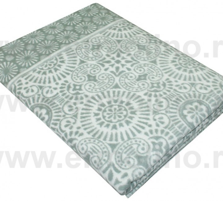 Абрикосовое Байковое одеяло жаккард 215х150 100% х/б