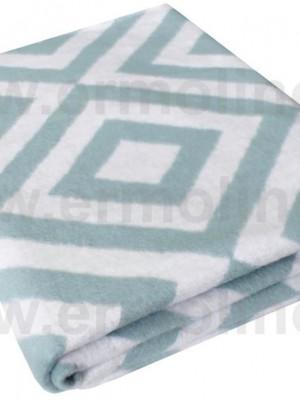 Ромбы Байковое жаккард 205х150 100% х/б арт. 5772ВЖК/М Ермолино одеяло