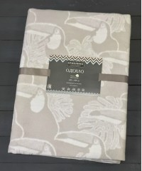 Светло-серый Туканы 5772ВЖК Премиум 212х150 1005 х/б Байковое жаккард Ермолино одеяло