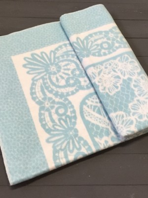 Серо-голубой ( Кружево ) 5772ВЖК 215х150 100% х/б Байковое жак Ермолино одеяло