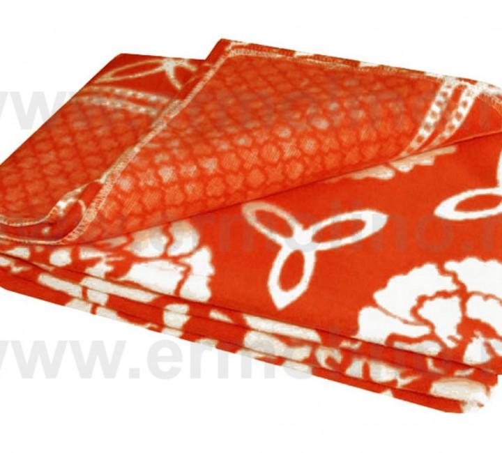 Красное Байковое 100х140 арт. 57-5ЕТОЖ 90% х/б Ермолино одеяло