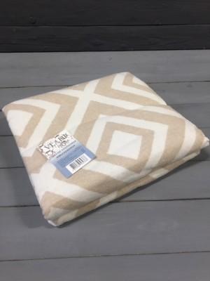 """Одеяло """"Ромб"""" 140х205 бел-беж"""