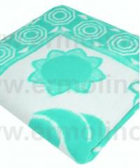Бирюза Байковое 100х140 арт. 57-5ЕТОЖ 90% х/б Ермолино одеяло