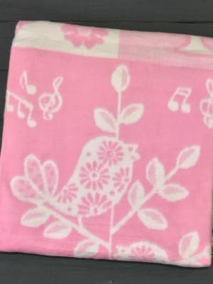 Розовое Птицы 57-8ЕТЖ 100х140 10% х/б Байковое жак Ермолино одеяло