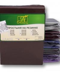 ПР-СО-Р-140-ШОК Шоколадная простыня Сатин однотонный на резинке 140х200х25