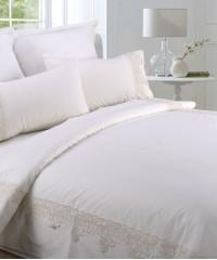 AB-SG 09 комплект постельного белья перкаль с гипюром Valtery Семейный