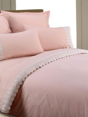 AB-SG 11 комплект постельного белья перкаль с гипюром Valtery Семейный