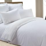 AB-SG 02 комплект постельного белья перкаль с гипюром Valtery 1,5 спальный