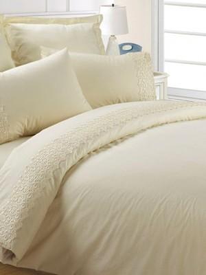 AB-SG 03 комплект постельного белья перкаль с гипюром Valtery 1,5 спальный