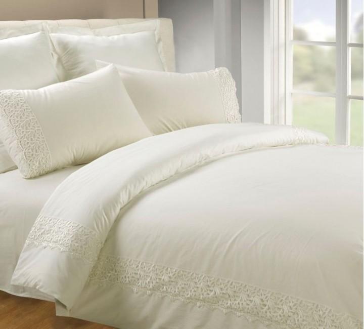 AB-SG 05 комплект постельного белья перкаль с гипюром Valtery Семейный
