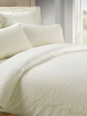 AB-SG 05 комплект постельного белья перкаль с гипюром Valtery 1,5 спальный
