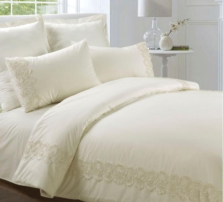 AB-SG 06 комплект постельного белья перкаль с гипюром Valtery Семейный
