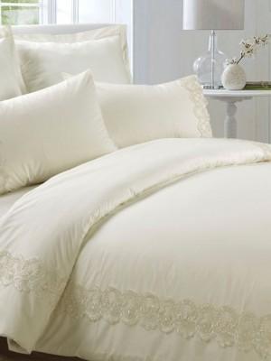 AB-SG 06 комплект постельного белья перкаль с гипюром Valtery 1,5 спальный