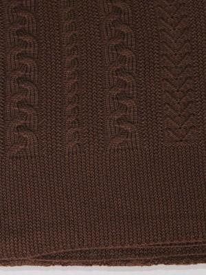 Коса (шоколад) вязанный плед Valtery 175х210