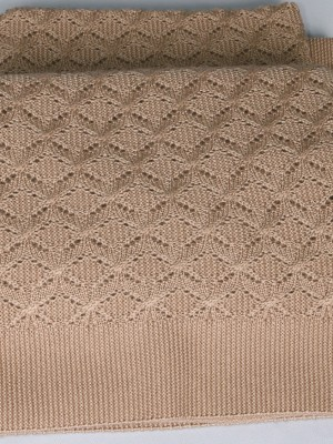 Елочка (конопля) вязанный плед Valtery 175х210