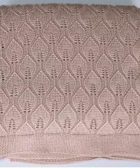 Ажур (фрезия) вязанный плед Valtery 150х200