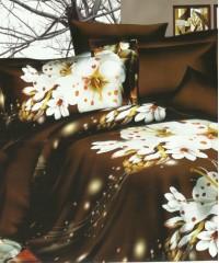 SF-04 комплект постельного белья Полисатин 3D Home Collection 1,5 спальный
