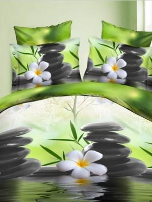 SF-10 комплект постельного белья Полисатин 3D Home Collection Евро