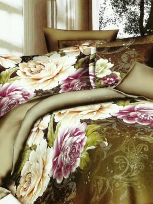 SF-20 комплект постельного белья Полисатин 3D Home Collection Евро