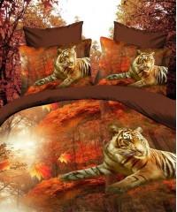 SF-05 комплект постельного белья Полисатин 3D Home Collection 1,5 спальный